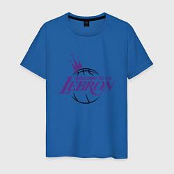Мужская хлопковая футболка с принтом Welcome to LA LeBron, цвет: синий, артикул: 10274328900001 — фото 1