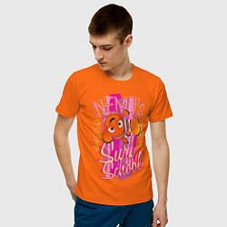 Футболка хлопковая мужская Nemos Surf School цвета оранжевый — фото 2