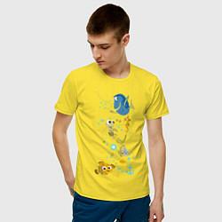Футболка хлопковая мужская В Поисках Немо цвета желтый — фото 2