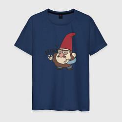 Мужская хлопковая футболка с принтом Бесит, цвет: тёмно-синий, артикул: 10275017500001 — фото 1