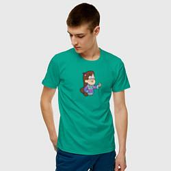 Мужская хлопковая футболка с принтом Мэйбл Пайнс, цвет: зеленый, артикул: 10275094900001 — фото 2