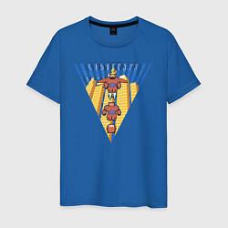 Футболка хлопковая мужская Бэймакс Город Героев 6 цвета синий — фото 1