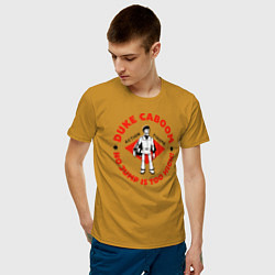 Футболка хлопковая мужская Duke Caboom цвета горчичный — фото 2