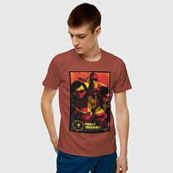 Футболка хлопковая мужская The Incredibles цвета кирпичный — фото 2