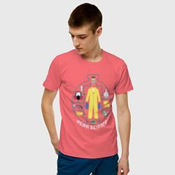 Футболка хлопковая мужская Джесси Пинкман цвета коралловый — фото 2