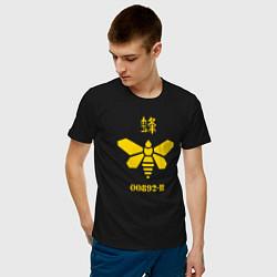 Футболка хлопковая мужская 00892-B цвета черный — фото 2