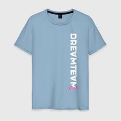 Мужская хлопковая футболка с принтом DreamTeam, цвет: мягкое небо, артикул: 10278383900001 — фото 1