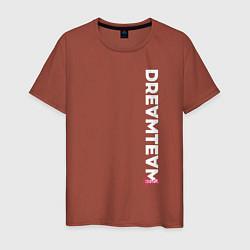 Футболка хлопковая мужская DreamTeam цвета кирпичный — фото 1