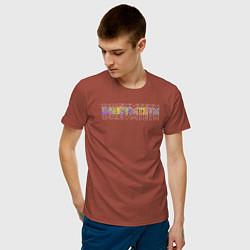 Футболка хлопковая мужская Dream team цвета кирпичный — фото 2