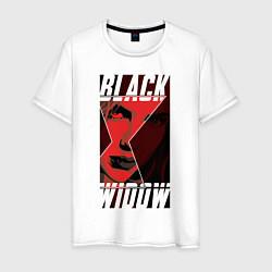 Футболка хлопковая мужская Black Widow цвета белый — фото 1