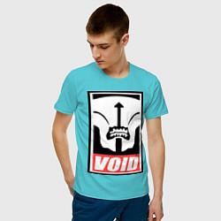 Футболка хлопковая мужская Faceless Void Poster цвета бирюзовый — фото 2