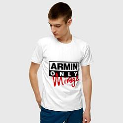 Мужская хлопковая футболка с принтом Armin Only: Mirage, цвет: белый, артикул: 10036476300001 — фото 2
