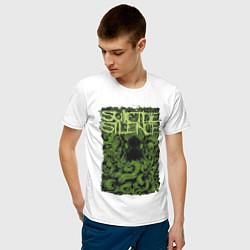Футболка хлопковая мужская Suicide Silence цвета белый — фото 2