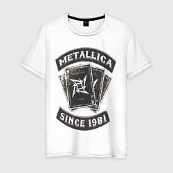 Футболка хлопковая мужская Metallica: since 1981 цвета белый — фото 1