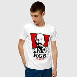 Футболка хлопковая мужская KGB: So Good цвета белый — фото 2