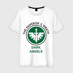 Футболка хлопковая мужская Темные Ангелы цвета белый — фото 1