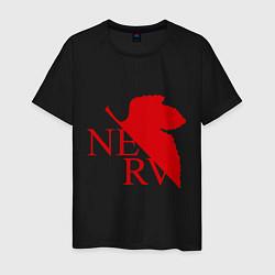Футболка хлопковая мужская Евангелион NERV цвета черный — фото 1