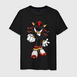 Футболка хлопковая мужская Sonic Shadow цвета черный — фото 1