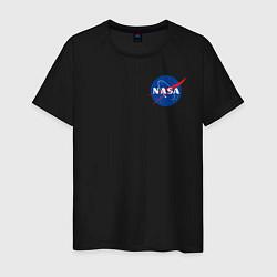 Футболка хлопковая мужская NASA цвета черный — фото 1
