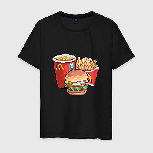 Мужская футболка Фастфуд / Черный – фото 1