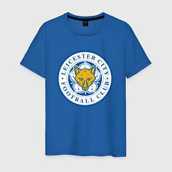 Футболка хлопковая мужская Leicester City FC цвета синий — фото 1