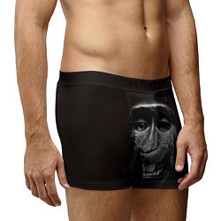 Трусы-боксеры мужские Улыбка обезьяны цвета 3D — фото 2