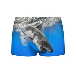 Трусы-боксеры мужские Акула под водой цвета 3D-принт — фото 1