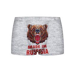 Трусы-боксеры мужские Bear: Made in Russia цвета 3D — фото 1