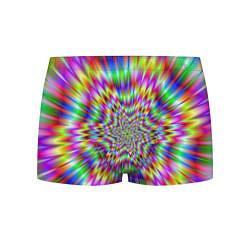 Трусы-боксеры мужские Спектральная иллюзия цвета 3D — фото 1