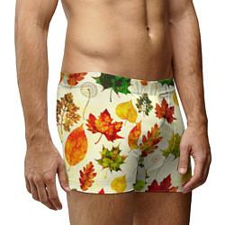 Трусы-боксеры мужские Осень цвета 3D-принт — фото 2