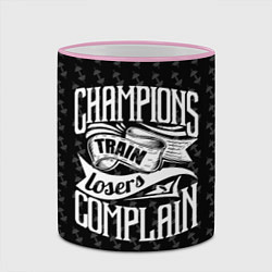 Кружка 3D Champions Train цвета 3D-розовый кант — фото 2