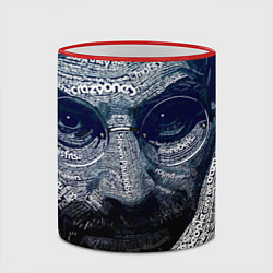 Кружка 3D Стив Джобс цвета 3D-красный кант — фото 2