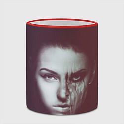 Кружка 3D Chelsea Grin: Death Girl цвета 3D-красный кант — фото 2