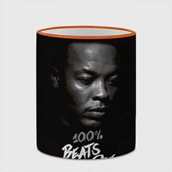 Кружка 3D Dr. Dre: 100% Beats цвета 3D-оранжевый кант — фото 2