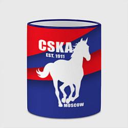 Кружка 3D CSKA est. 1911 цвета 3D-синий кант — фото 2
