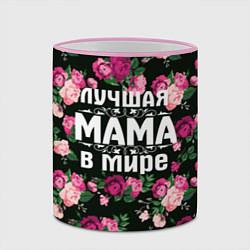 Кружка 3D Лучшая мама в мире цвета 3D-розовый кант — фото 2