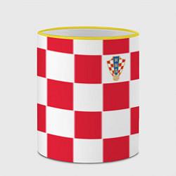 Кружка 3D Сборная Хорватии: Домашняя ЧМ-2018 цвета 3D-желтый кант — фото 2