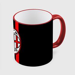 Кружка 3D AC Milan 1899 цвета 3D-красный кант — фото 1
