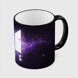 Кружка 3D BTS: Violet Space цвета 3D-черный кант — фото 1
