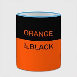 Кружка 3D Orange Is the New Black цвета 3D-небесно-голубой кант — фото 2
