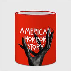 Кружка 3D Американская История Ужасов цвета 3D-красный кант — фото 2