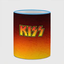 Кружка 3D KISS цвета 3D-небесно-голубой кант — фото 2