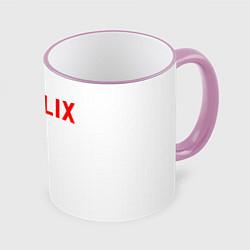 Кружка 3D NETFLIX цвета 3D-розовый кант — фото 1
