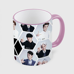 Кружка 3D EXO Boys цвета 3D-розовый кант — фото 1