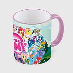 Кружка 3D My Little Pony цвета 3D-розовый кант — фото 1