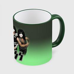 Кружка 3D Kiss цвета 3D-зеленый кант — фото 1