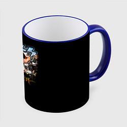 Кружка 3D Kiss Monster цвета 3D-синий кант — фото 1