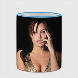 Кружка 3D Angelina Jolie цвета 3D-небесно-голубой кант — фото 2