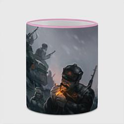 Кружка 3D Солдаты цвета 3D-розовый кант — фото 2