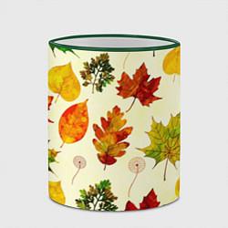 Кружка 3D Осень цвета 3D-зеленый кант — фото 2